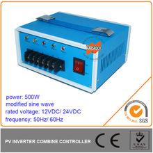 500W Modified Sine Wave Off Grid Inverter with Charge Controller, DC12V/ 24V, AC110V/ 220V, 50Hz or 60Hz