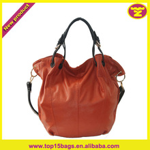 Ladies Tote Bag Orange Big Capacity Long Strap Initial Tote Bag