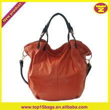 Ladies Tote Bag Orange Big Capacity Long Strap Initial Tote Bag