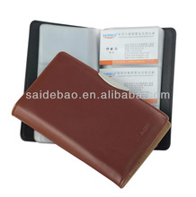 Business pu leather name card holder/card case