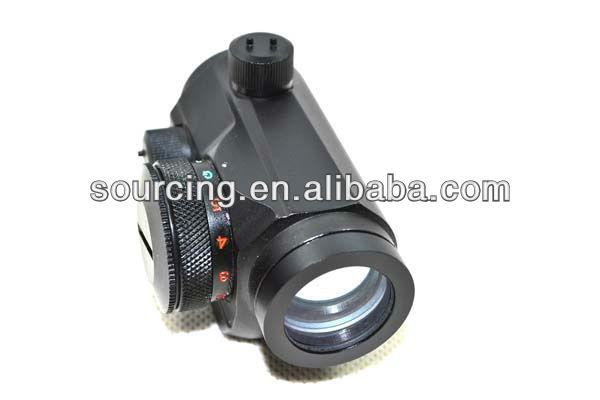 Mini Micro Illuminated Red Green Dot Sight Compact Riflescope T1 for 20mm Rail Mounts