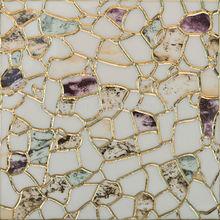 Purple,green, orange Hand Made indoor ceramic glazed tile 300x300