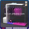 TSD-W123 Custom floor standing metal wooden clothing store display stand/shop furniture garment display/clothing store shelves