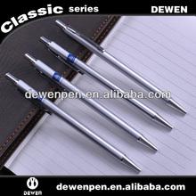 new design thin silver light metal ball pen