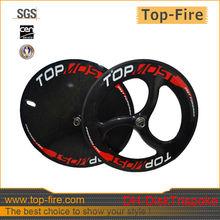 2013 new design 700c carbon track disc wheel tubular bike disc wheels,carbon bicycle wheels for hot sale