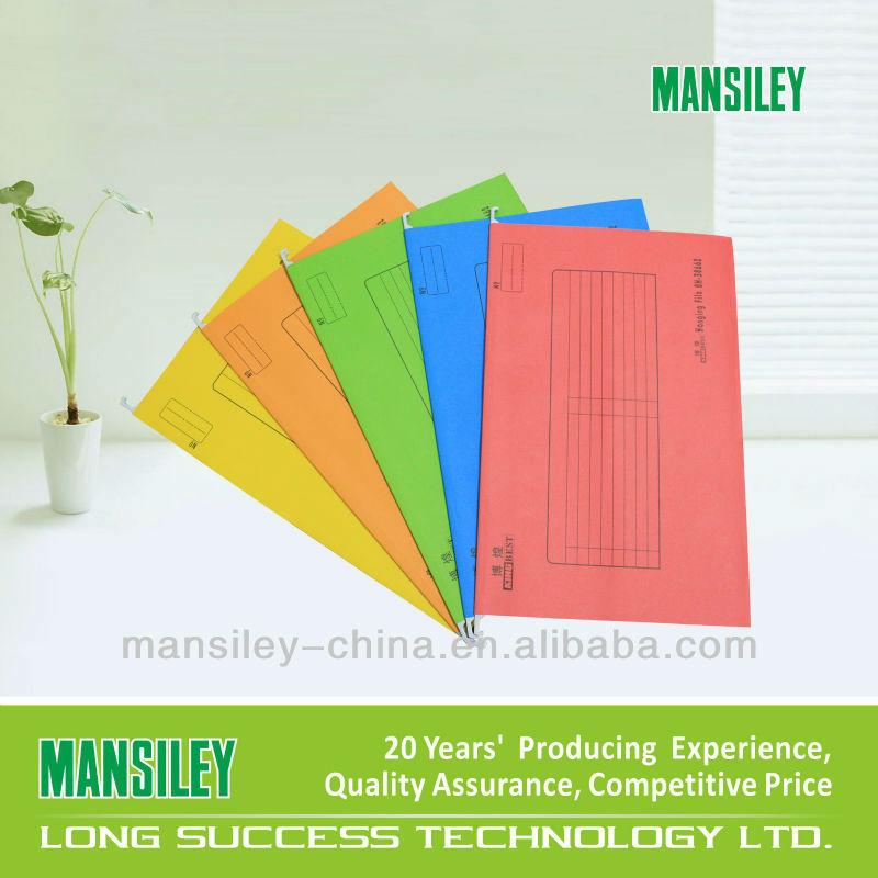 Durable manila colorful hanging folder