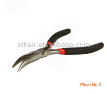 long bended nose combination plier for micro ring hair extension