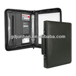 JH-11332 multi-function office leather portfolio organizer