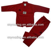 high quality taekwondo suits/martial arts uniforms/red taekwondo kimono