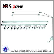 Heavy duty AB, AC aluminum alloy adjustable easy assemble lifting laundry hanger rack for balcony