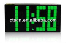 Big DIY LED Bell Digitally Clock Rainbow Color Snooze Watch
