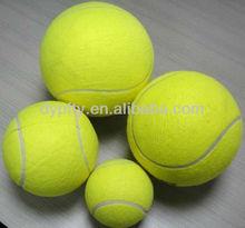 "Promotional Yellow 9.5"" jumbo tennis ball with logo printed"