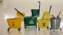 Mop Wringer Trolley,Mopping Trolley Bucket 23 L,Side-press Single Mop Wringer Trolley