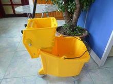Yellow Mop Wringer Bucket
