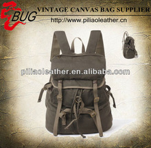 Latest olive waxed Canvas Backpack Vintage Canvas Rucksack