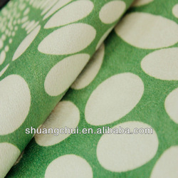 ShuangChui knitted 100%polyester print velvet fabric for sofa ,garment and upholstery