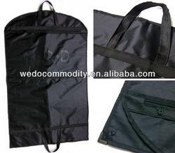 folding suit bag for bridegroom with zipper pocket bag