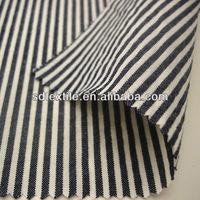 100% cotton stripe fabric black and white
