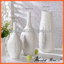 NHTC616-W White Ceramic Modern Art Flowers Vases