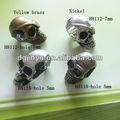De aleación de zinc astilla del cráneo para cuentas pulseras paracord, cuerdas de seguridad& otro proyecto