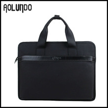 Guangzhou factory leather men laptop briefcase bag