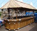 Casa de madera- barra de mimbre kiti- barra de bambú mirador- barra de casa