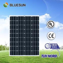 Bluesun high quality per watt good 75w solar panel price
