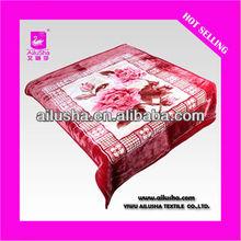 ALS-DESIGN8005 100 Polyester Fleece Blanket Camel Red Blanket Hotel Blanket