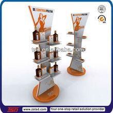 TSD-W193 China factory custom retail shop free standing 3 tier red wine display shelf