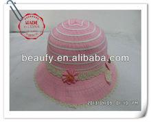 kids lace brim straw hat
