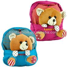 Cute Baby Child Kid Canvas Backpack Little Bear Design Schoolbag Shoulder Bag