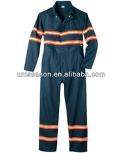 100% cotton anti- static safety fire retardant overall for industry workers