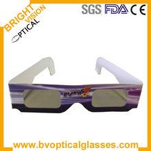 Cheap paper linear polarized 3d glasses