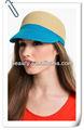dama de moda de paja visera gorra