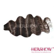 Hershow Prime 5A Human unprocessed black wholesale virgin Indian hair