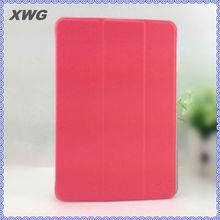 "7.9"" hot pink Leather Case Wake/Sleep for iPad Mini smart cover"