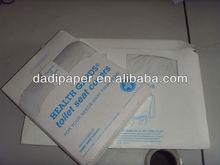 1/4 fold flushable toilet seat cover paper