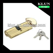 70mm Brass door Lock Cylinder ,single open with knob LMS-7001
