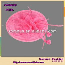 Somnus Fashion Ladies' Pink Sinamay hair Accessory Handmade Hair Fascinator 06005