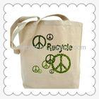 Recycle Cotton Bag Long Handle Shopping Bag