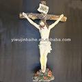 Pintada de resina religiosas cristianas sufrimiento de jesús de la cruz del producto, cristo religiosa de la escultura, de calidad superior, resonable precio, 7005