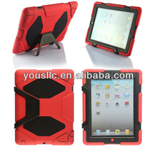 Deluxe Full Set Heavy Duty Hybrid Hard MOBILE PHONE CASE Cover Skin Stand for iPad 4 3 2