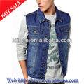 2014 designer jean homens casacos de mangas jaqueta jeans( ldm8)