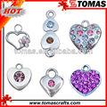 venda quente decorativo bonito strass pingente de coração