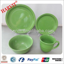 16pcs Indian Dinnerware Import Export Company Names Green Stoneware Dinnerware