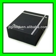 ribbon design silver logo matt black paper cardboard gift produce boxes