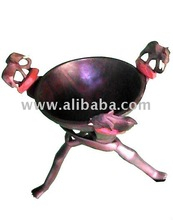 Wooden Bowl And Tripod Stand Set