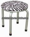 De acero estampado de leopardo exterior / interior comedor silla de metal