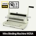 ( w25a) espiral de alambre máquina de encuadernación