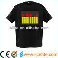 2014 ano china top supplier sem fio brilham no escuro t- camisa personalizada